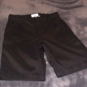Boys size 7 Old Navy black khaki shorts